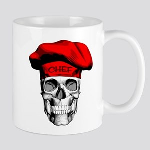 Red CHef Skull Mugs
