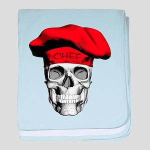 Red CHef Skull baby blanket