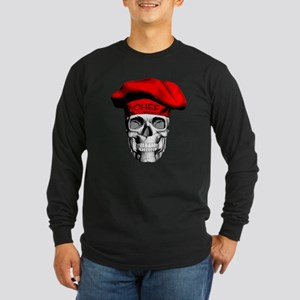Red CHef Skull Long Sleeve T-Shirt