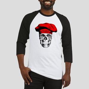Red CHef Skull Baseball Jersey
