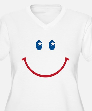 Smiley Face USA Plus Size T-Shirt