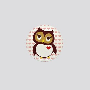 Whoo Loves You w/ Hearts Mini Button