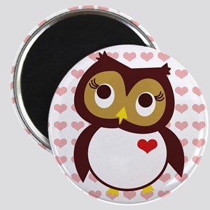 Whoo Loves You w/ Hearts Magnet