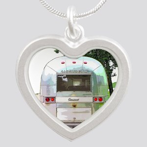 Vintage Airstream Silver Heart Necklace