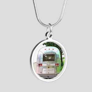 Vintage Airstream Silver Round Necklace