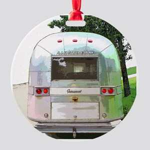 Vintage Airstream Round Ornament