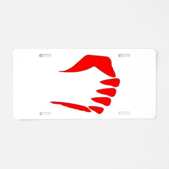 Vertical Fist Aluminum License Plate