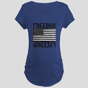 Freedom US Flag Maternity Dark T-Shirt