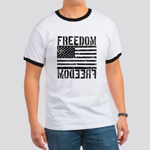 Freedom US Flag Ringer T