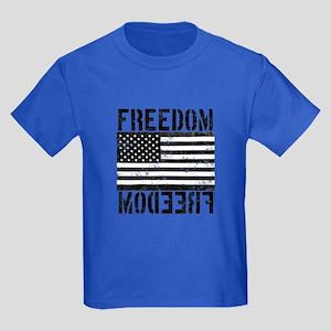 Freedom US Flag Kids Dark T-Shirt