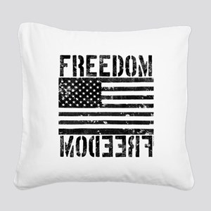 Freedom US Flag Square Canvas Pillow