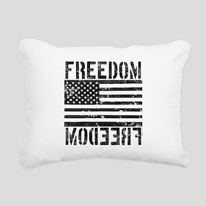 Freedom US Flag Rectangular Canvas Pillow
