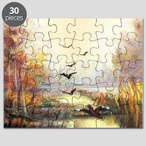 Autumn hunting pastel Puzzle