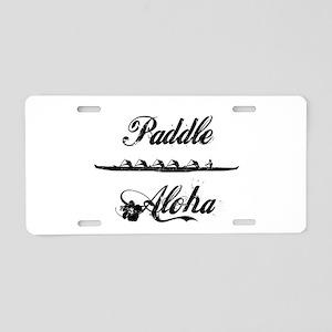 Paddle Aloha Kane Aluminum License Plate