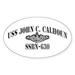 USS JOHN C. CALHOUN Sticker (Oval)