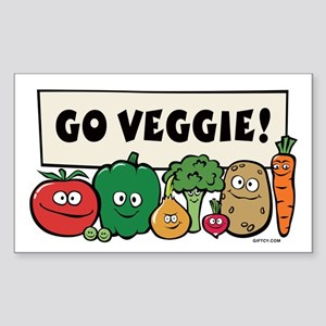 Go Veggie! Rectangle Sticker
