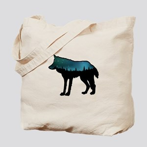 WOLF NIGHTLY Tote Bag