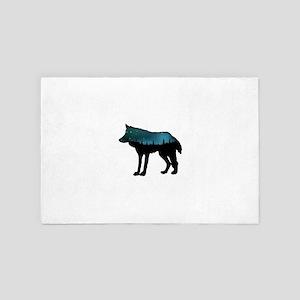 WOLF NIGHTLY 4' x 6' Rug