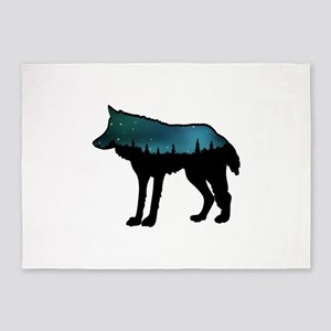 WOLF NIGHTLY 5'x7'Area Rug