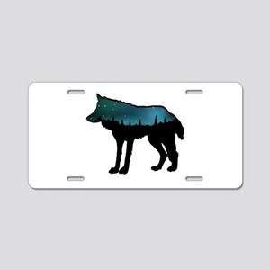 WOLF NIGHTLY Aluminum License Plate