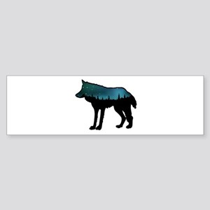 WOLF NIGHTLY Bumper Sticker