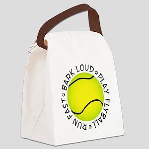 Run Fast Bark Loud Canvas Lunch Bag
