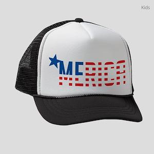 US Flag MERICA Kids Trucker hat