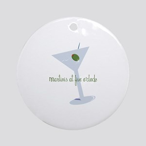 Martini At Five O'clock Ornament (Round)