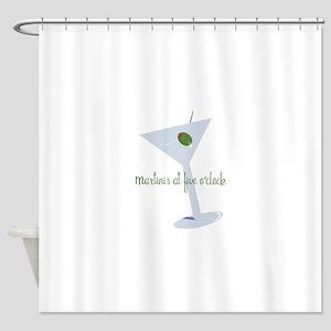 Martini At Five O'clock Shower Curtain