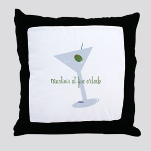Martini At Five O'clock Throw Pillow