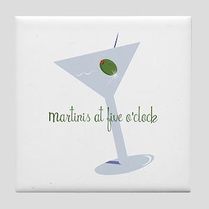Martini At Five O'clock Tile Coaster