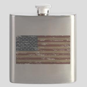 Patriotic Vintage American Flag Flask