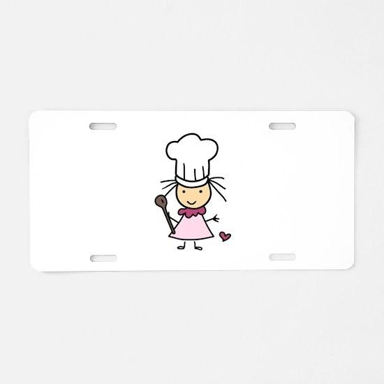 Little Chef Girl Aluminum License Plate