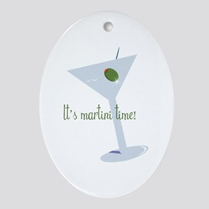 It's Martini Time! Ornament (Oval)