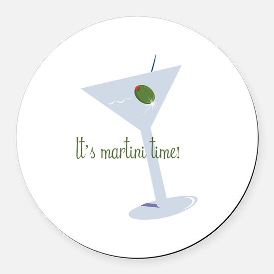 It's Martini Time! Round Car Magnet