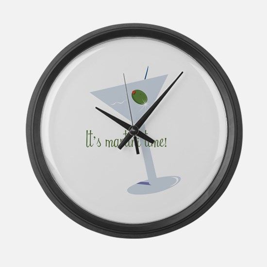 It's Martini Time! Large Wall Clock