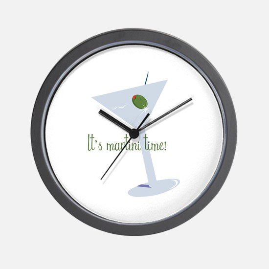 It's Martini Time! Wall Clock