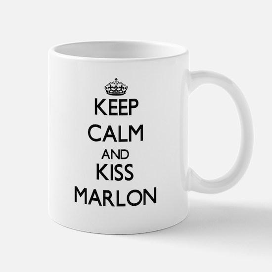 Keep Calm and Kiss Marlon Mugs