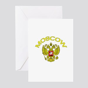Moscow, Russia Coat of Arms Greeting Cards (Packag