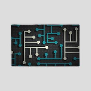 Circuit Board 3'x5' Area Rug