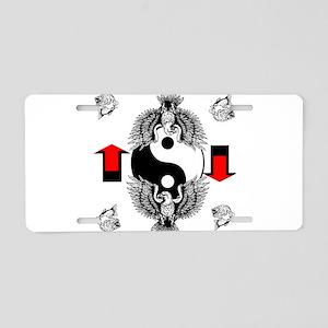 yin-yang Aluminum License Plate