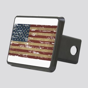 Vintage Distressed American Flag Hitch Cover