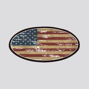 Vintage Distressed American Flag Patches