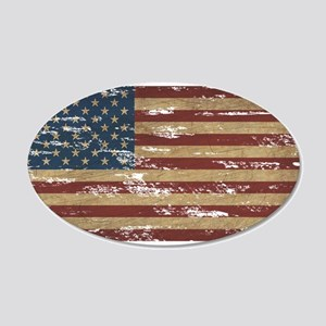 Vintage Distressed American Flag Wall Decal