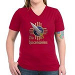 Womens V-Neck Dark T-Shirt