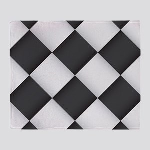 Chess Board Pattern Throw Blanket