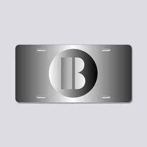 Polished Steel (B) Aluminum License Plate