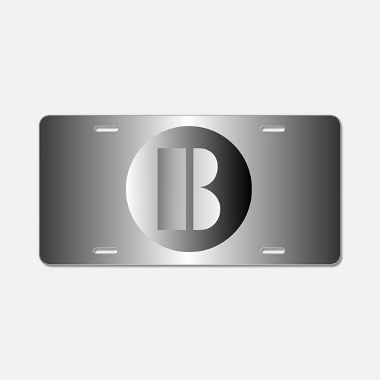 Polished Steel (B) Aluminum License Plate