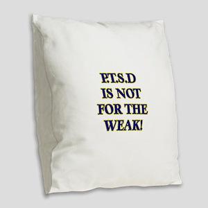 P Burlap Throw Pillow