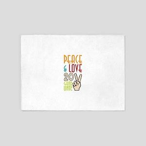 Peace & Love 2011Graduate 5'x7'Area Rug